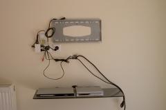 Διαχείριση καλωδίων & τοποθετηση δορυφορικού δέκτη πριν την τοποθέτηση TV 40''